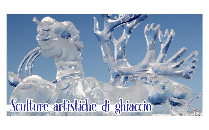 Natale a Monselice sculture di ghiacccio